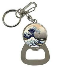 Buy The Great Wave Mount Fuji Hokusai Japanese Art Keychain Bottle Opener