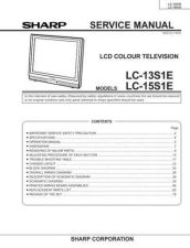 Buy Sharp LC13S1UB Service Manual by download Mauritron #209816