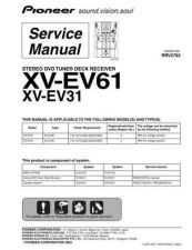Buy Pioneer XV-EV31 Manual by download Mauritron #228175