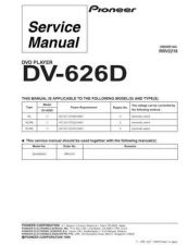 Buy Pioneer DV-626D Service Manual by download Mauritron #234316