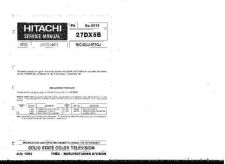 Buy Hitachi 27DX5B Service Manual by download Mauritron #262454