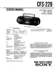 Buy Sony CFS-229L Service Manual by download Mauritron #238921
