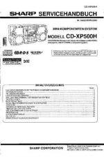 Buy Sharp CDXP500H SM DE Service Manual by download Mauritron #208709