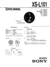 Buy Sony XS-L101 Service Manual. by download Mauritron #246383