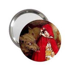 Buy Little Red Riding Hood Big Bad Wolf Art Mini Mirror