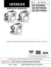 Buy Hitachi DZ-MV780MA Service Manual by download Mauritron #262057