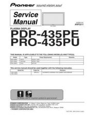 Buy Pioneer PDP-435HDC-WA Service Manual by download Mauritron #235008