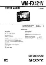 Buy Sony WM-FX421V Service Manual. by download Mauritron #245810