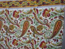 Buy Indian Jaipur Hand Made 100% cotton fabric hand block printed sanganeri fabrics