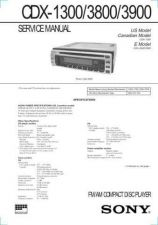 Buy Sony CDX-1300-3800-3900 Service Manual by download Mauritron #237428