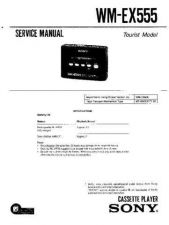 Buy Sony WM-EX555 Service Manual. by download Mauritron #245673