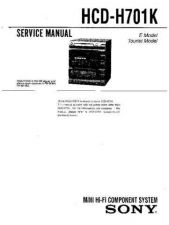 Buy Sony HCD-H700 Manual by download Mauritron #229227