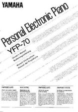 Buy Yamaha YFP70F Operating Guide by download Mauritron #250327