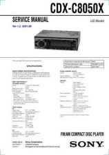 Buy Sony CDX-C7000XC7050XService Manual by download Mauritron #237601