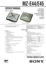 Buy Sony MZ-E35 Service Manual. by download Mauritron #243088