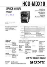 Buy Sony HCD-MD555 service manual Technical Manual. by download Mauritron #242031
