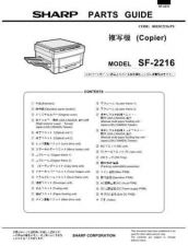 Buy Sharp SF2216 SM DE Service Manual by download Mauritron #210506