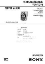 Buy Sony SS-BX5-BX7-DX7-DX7B-VX77-VX77B Service Manual. by download Mauritron #2446