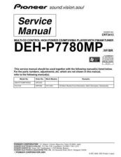 Buy Pioneer DEH-P7780MP Service Manual by download Mauritron #233642
