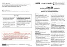 Buy Hornby Class 56 BR CO CO Diesel (Sound) Maintenance Sheets by download Mauritro