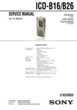 Buy Sony ICD-B100 Service Manual by download Mauritron #232098