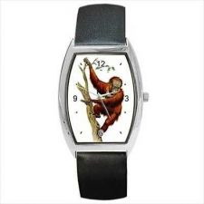 Buy Orangutang Climbing Tree Art Unisex Barrel Wrist Watch