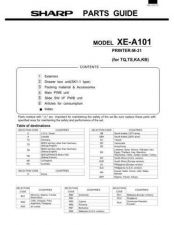 Buy Sharp XEA101 Parts Technical Information by download Mauritron #233068