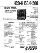 Buy Sony HCD-H1200 Service Manual by download Mauritron #241093