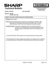 Buy SHARP FAX214 TECHNICAL BULLETIN by download #104383