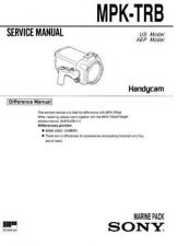 Buy Sony MPK-TRA2TRA2K Service Manual. by download Mauritron #242943