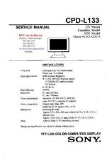Buy SONY CPDL133 Technical Info by download #104720