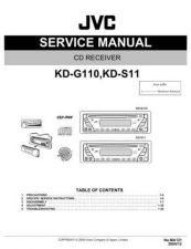 Buy JVC KD-G110 KD-S11 Service Manual Schematic Circuit. by download Mauritron #271290