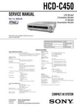Buy Sony HCD-C450.. Service Manual by download Mauritron #240897