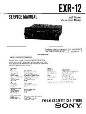 Buy Sony EXR-12 Service Manual by download Mauritron #240648