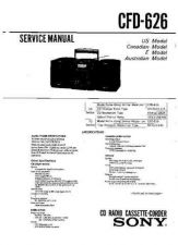 Buy Sony CFD-626 Service Information by download Mauritron #237641