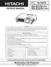 Buy Hitachi ED-X3270A Service Manual by download Mauritron #262117