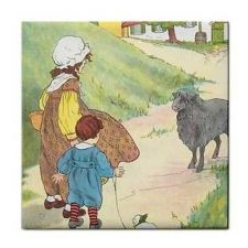 Buy Baa Baa Black Sheep Rhyme Vintage Art Ceramic Tile