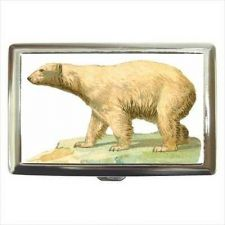 Buy Polar Bear Art Cigarette Money Credit Business Card Case Wallet