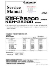 Buy PIONEER KEH2520R CRT2047 Technical Information by download #119276