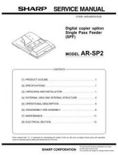 Buy Sharp SHARP AR-SP2 SERVICE Service Manual by download Mauritron #210660