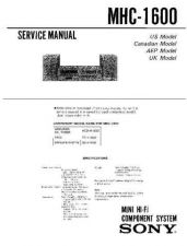 Buy Sony MHC-1700 Service Manual. by download Mauritron #242801