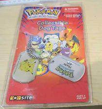Buy Pokemon Dog Tag Necklace Pikachu #25 Rare HTF