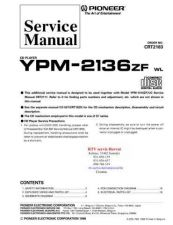 Buy PIONEER YPM2136ZF CRT2183 CD Technical Information by download #119436