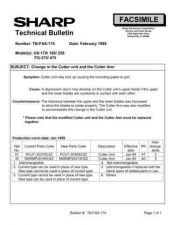Buy SHARP FAX155 TECHNICAL BULLETIN by download #104341