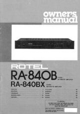 Buy ROTEL RA840BX Manual by download Mauritron #230363