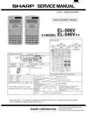 Buy Sharp EL501V Technical Information by download Mauritron #232864