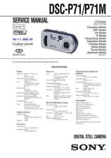 Buy Sony DSC-P72-2 Service Manual by download Mauritron #240276