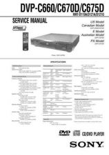 Buy Sony DVP-C660C670DC675D Service Manual by download Mauritron #240480