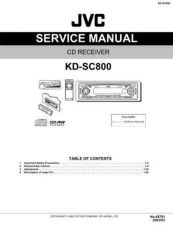 Buy JVC KD-SC800 SERVICE MANUAL by download Mauritron #220414
