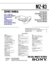 Buy Sony MZ-R3 Service Information by download Mauritron #237969